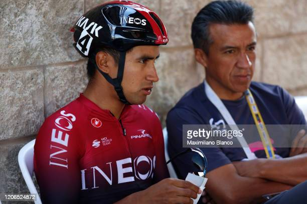 Start / Jhonatan Narvaez Prado of Ecuador and Team INEOS / during the 3rd Tour of Colombia 2020, Stage 5 a 180,5km stage from Paipa to Zipaquirá /...