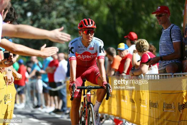 Start / Jhonatan Restrepo of Colombia and Team Katusha Alpecin / during the 73rd Tour of Spain 2018, Stage18 a 186,1km stage from Ejea de los...