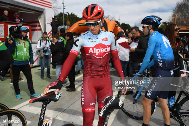 Start / Jhonatan Restrepo of Colombia and Team Katusha-Alpecin / during the 98th Volta Ciclista a Catalunya 2018, Stage 2 a 175,6km stage from Mataro...