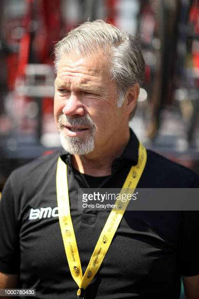 Start / Jim Ochowicz of The United States President and General Manager of BMC Racing Team / during the 105th Tour de France 2018 / Stage 10 a 1585km...