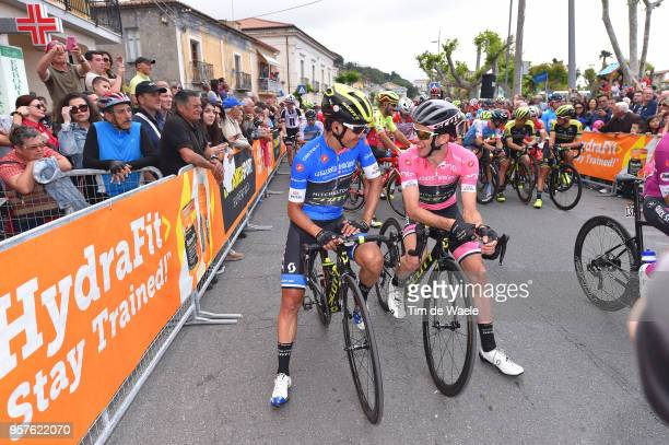 Start / Johan Esteban Chaves Rubio of Colombia Blue Mountain Jersey and Team Mitchelton-Scott / Simon Yates of Great Britain and Team...