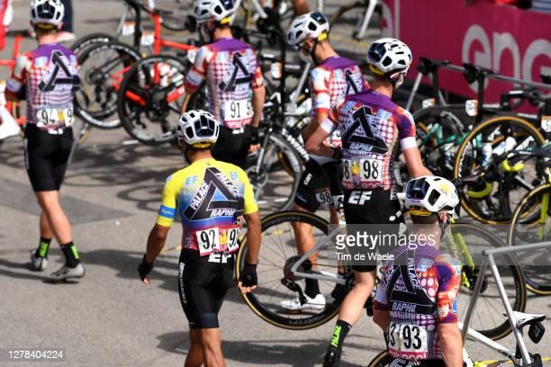 Start / Jonathan Caicedo Cepeda of Ecuador and Team EF Pro Cycling / James Whelan of Australia and Team EF Pro Cycling / Simon Clarke of Australia...