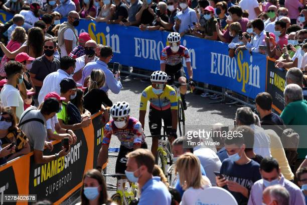 Start / Jonathan Caicedo Cepeda of Ecuador and Team EF Pro Cycling / Santuario Maria SS. Dell'Alto / Alcamo Village / Fans / Public / during the...