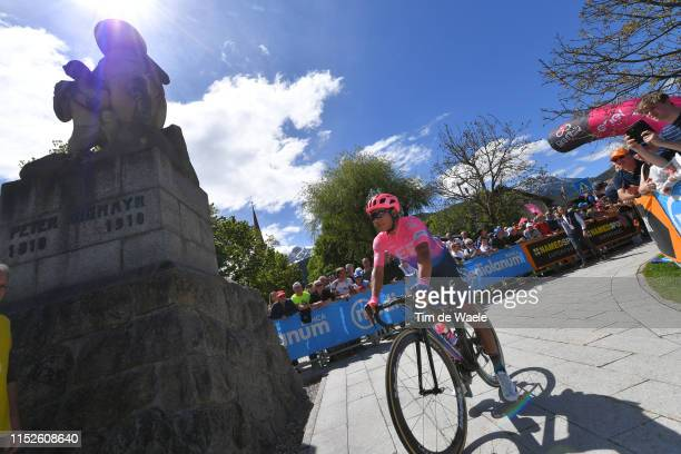 Start / Jonathan Klever Caicedo Cepeda of Ecuador and Team EF Education First / Valdaora Village / Fans / Public / during the 102nd Giro d'Italia...