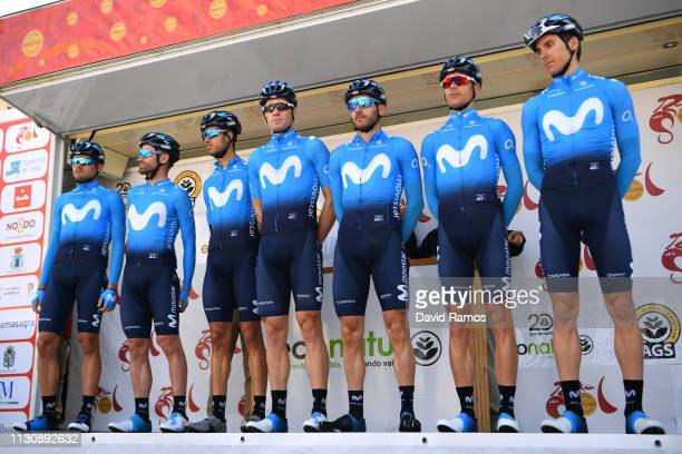 Start / Jose Joaquin Rojas of Spain and Movistar Team / Carlos Barbero of Spain and Movistar Team / Hector Carretero of Spain and Movistar Team /...