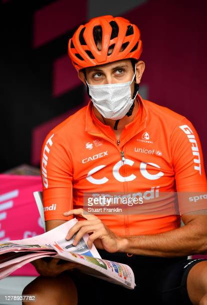 Start / Josef Cerny of Czech Republic and CCC Team / Mask / Covid safety measures / during the 103rd Giro d'Italia 2020, Stage 5 a 225km stage from...