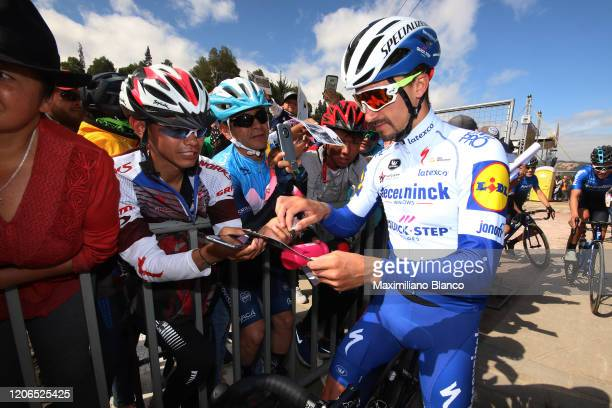 Start / Julian Alaphilippe of France and Team Deceuninck - Quick Step / Fans / Public / during the 3rd Tour of Colombia 2020, Stage 5 a 180,5km stage...