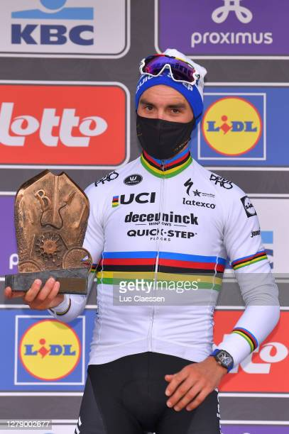 Start / Julian Alaphilippe of France and Team Deceuninck - Quick-Step / Marion Rousse of France Girlfriend - Ex-Pro rider-TV Journalist / Girlfriend...