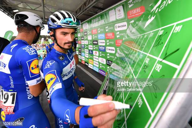 Start / Julian Alaphilippe of France and Team QuickStep Floors / during the 15th Tour of Britain 2018 Stage 1 a 1748km stage from Pembrey Country...