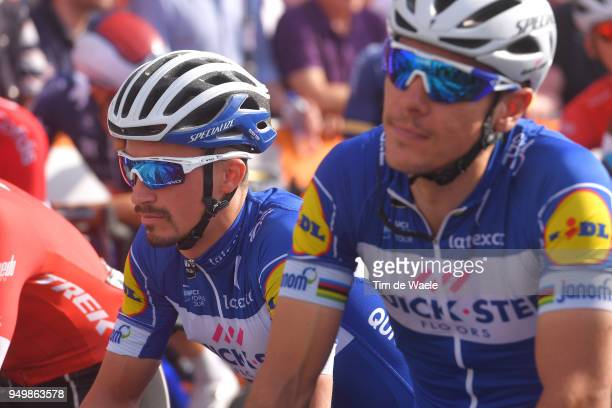Start / Julian Alaphilippe of France and Team QuickStep Floors / during the104th LiegeBastogneLiege 2018 a 2585km race from Liege to LiegeAns on...