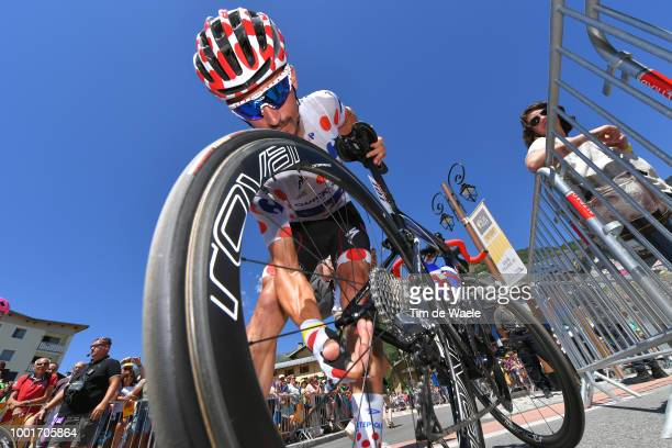 Start / Julian Alaphilippe of France and Team QuickStep Floors Polka Dot Mountain Jersey / Wheel / Bike / during the 105th Tour de France 2018 Stage...