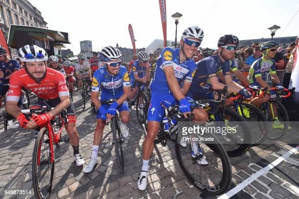 Start / Julien Bernard of France and Team Trek Segafredo / Julian Alaphilippe of France and Team QuickStep Floors / Philippe Gilbert of Belgium and...