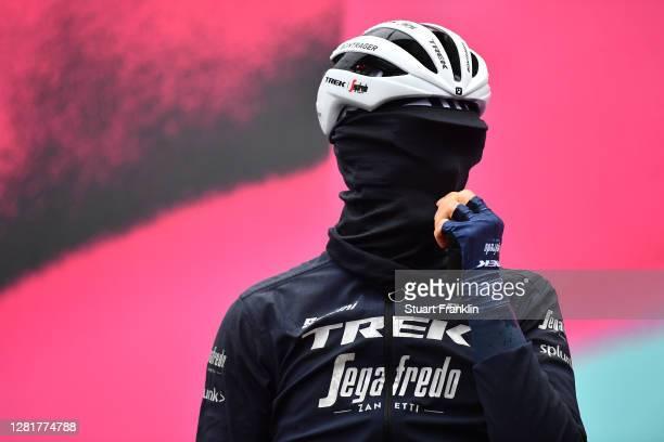 Start / Julien Bernard of France and Team Trek - Segafredo / Morbegno Village / during the 103rd Giro d'Italia 2020, Stage 19 a 258km stage from...