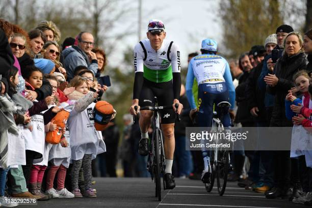 Start / Julien Vermote of Belgium and Team Dimension Data / Fans / Public / during the 77th Paris Nice 2019 Stage 3 a 200km stage from Cepoy to...