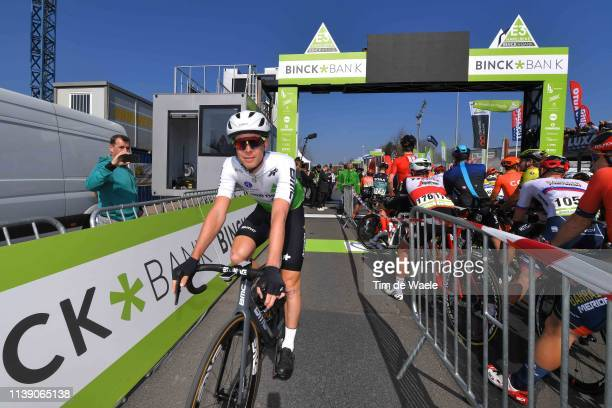 Start / Julien Vermote of Belgium and Team Dimension Data / Peloton / during the 62nd E3 Harelbeke 2019 a 2039km race from Harelbeke to Harelbeke /...