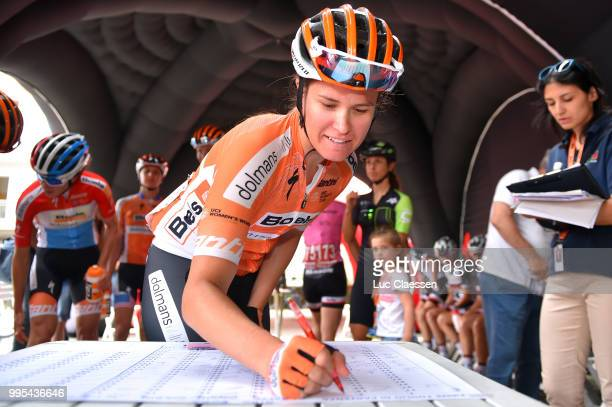 Start / KarolAnn Canuel of Canada and Boels Dolmans Cycling Team / during the 29th Tour of Italy 2018 Women Stage 5 a 1226km stage from Omegna to...