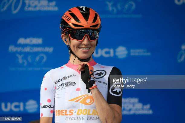 / Start / Katharine Hall of The United States and Boels Dolmans Cycling Team / prior to the Amgen Tour Of California Women's Race 2019 Stage 3 a...