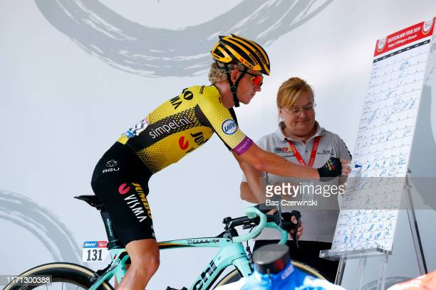 Start / Koen Bouwman of The Netherlands and Team Jumbo - Visma / Sing In / Team Presentation / during the 34th Deutschland Tour 2019, Stage 3 a 189km...