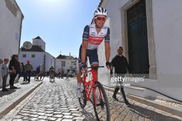 Start / Koen De Kort of The Netherlands and Team Trek - Segafredo / Faro Village / during the 46th Volta ao Algarve 2020, Stage 3 a 201,9Km stage...