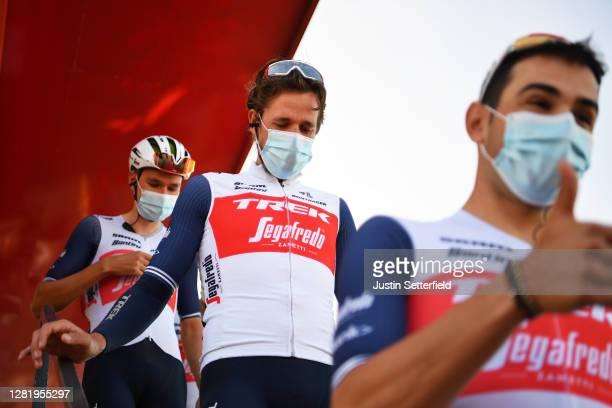 Start / Koen De Kort of The Netherlands and Team Trek - Segafredo / Mask / Covid safety measures / Team Presentation / during the 75th Tour of Spain...
