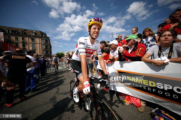 Start / Koen de Kort of The Netherlands and Team TrekSegafredo / during the 106th Tour de France 2019 Stage 7 a 230km stage from Belfort to...