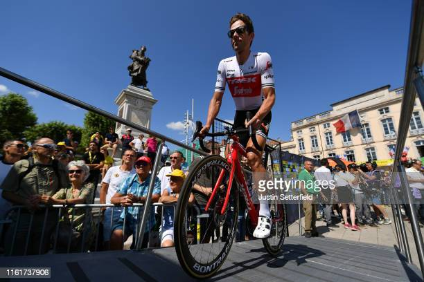 Start / Koen de Kort of The Netherlands and Team TrekSegafredo / Mâcon City / Fans / Public / during the 106th Tour de France 2019 Stage 8 a 200km...