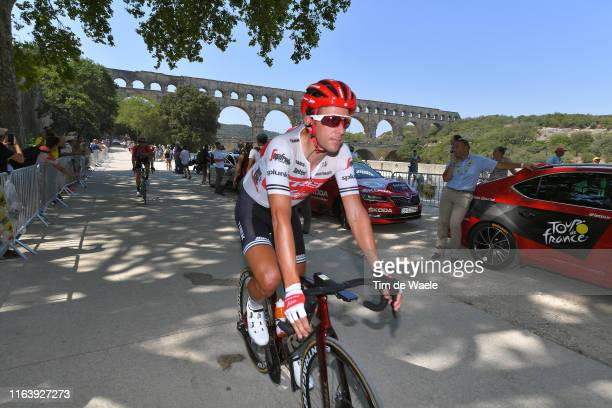 Start / Koen de Kort of The Netherlands and Team TrekSegafredo / Pont du Gard Bridge / during the 106th Tour de France 2019 Stage 17 a 200km stage...