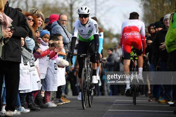 Start / Lars Bak Ytting of Denmark and Team Dimension Data / Fans / Public / during the 77th Paris Nice 2019 Stage 3 a 200km stage from Cepoy to...