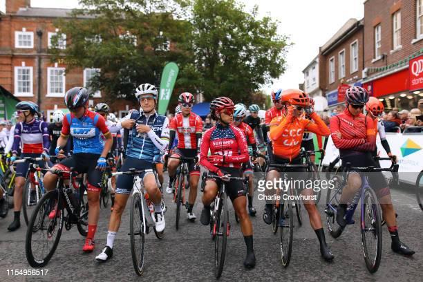Start / Lisa Brennauer of Germany and Team WNT Rotor Pro Cycling / Lizzie Elizabeth ArmitsteadDeignan of the United Kingdom and Team Trek Segafredo /...