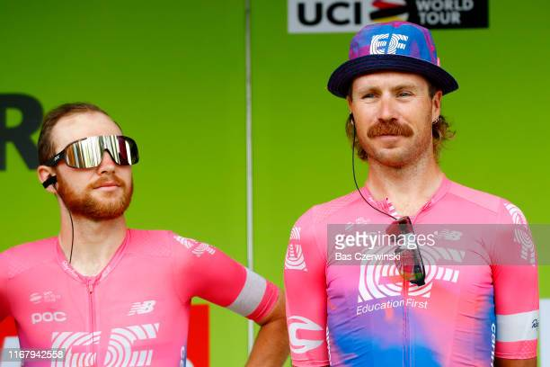 Start / Logan Owen of The United States and Team EF Education First / Mitchell Docker of Australia and Team EF Education First / Team Presentation /...