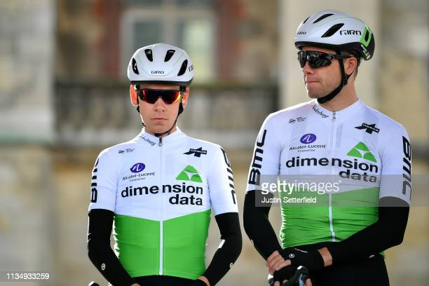 Start / Louis Meintjes of South Africa and Team Dimension Data / Edvald Boasson Hagen of Norway and Team Dimension Data / Team Presentation / during...