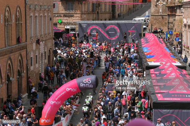 Start / Louis Meintjes of South Africa and Team Dimension Data / Osimo City / Fans / Public / during the 101st Tour of Italy 2018, Stage 12 a 214km...