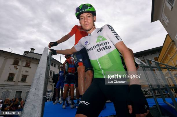 Start / Louis Meintjes of South Africa and Team Dimension Data / Team Presentation / during the 2nd Adriatica Ionica Race 2019, Stage 5 a 135,5km...