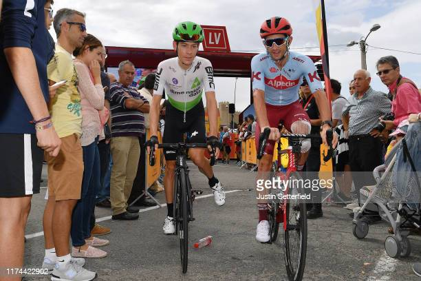 Start / Louis Meintjes of South Africa and Team Dimension Data / Willem Jakobus Smit of South Africa and Team Katusha-Alpecin / Ávila City / Fans /...