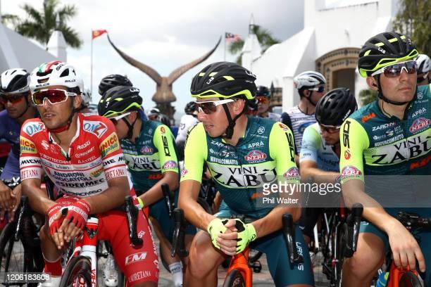 Start / Luca Pacioni of Italy and Team Androni Giocattoli - Sidermec / Lorenzo Fortunato of Italy and Team Vini Zabù - KTM / Leonardo Tortomasi of...