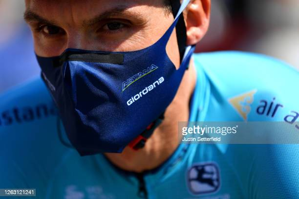 Start / Luis Leon Sanchez Gil of Spain of Colombia and Astana Pro Team / Giordana Mask / Covid Safe measures / during the 44th La Route d'Occitanie -...