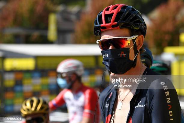 Start / Luke Rowe of The United Kingdom and Team INEOS Grenadiers / Mask / Covid Safety Measures / during the 107th Tour de France 2020 Stage 16 a...