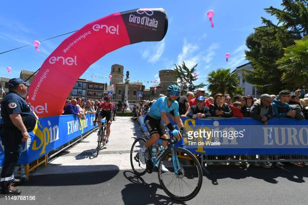 L'AQUILA ITALY MAY 17 Start / Manuele Boaro of Italy and Astana Pro Team / Fans / Public / Vasto City / during the 102nd Giro d'Italia 2019 Stage 7 a...