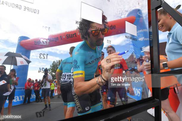 Start / Manuele Boaro of Italy and Astana Pro Team / Signing / during the 21st Santos Tour Down Under 2019 Stage 1 a 129km stage from Adelaide to...