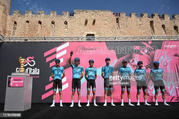 Start / Manuele Boaro of Italy, Fabio Felline of Italy, Jakob Fuglsang of Denmark, Miguel Angel Lopez Moreno of Colombia, Rodrigo Contreras of...