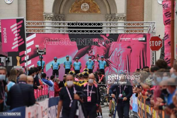 Start / Manuele Boaro of Italy, Fabio Felline of Italy, Jakob Fuglsang of Denmark, Yuriy Natarov of Kazahkstan, Oscar Rodriguez Garaikoetxea of...