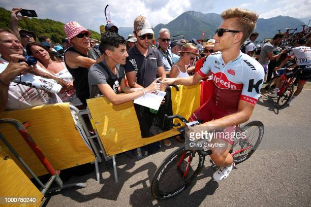 Start / Marcel Kittel of Germany and Team Katusha / Fans / during the 105th Tour de France 2018 / Stage 10 a 1585km stage from Annecy to Le...
