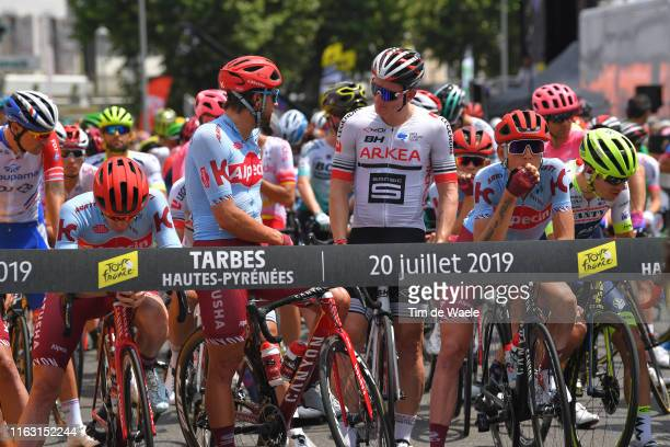 Start / Marco Haller of Austria and Team Katusha-Alpecin / Andre Greipel of Germany and Team Arkea-Samsic / Ilnur Zakarin of Rusia and Team...