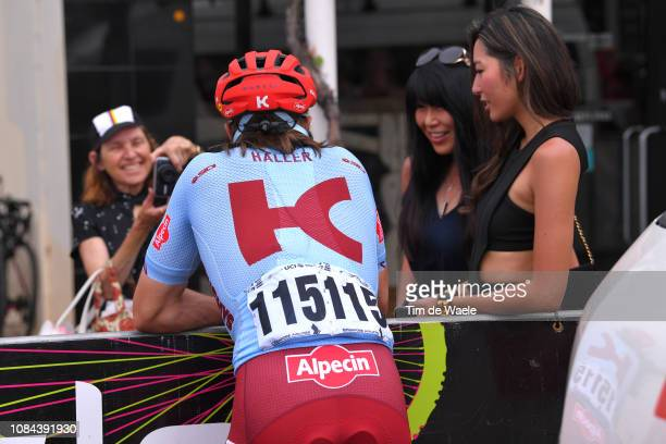 Start / Marco Haller of Austria and Team Katusha-Alpecin / Fans / Public / during the 21st Santos Tour Down Under 2019, Stage 4 a 129,2km stage from...