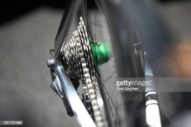 Start / Mark Cavendish of Great Britain and Team Dimension Data / Cassete / Cervelo Bike / Detail view / during the 105th Tour de France 2018 Stage...