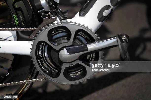 Start / Mark Cavendish of Great Britain and Team Dimension Data / Durance Crankset / Cervelo Bike / Detail view / during the 105th Tour de France...