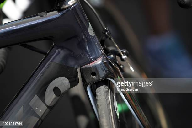 Start / Mark Cavendish of Great Britain and Team Dimension Data / Fork crown / Cervelo Bike / Detail view / during the 105th Tour de France 2018...