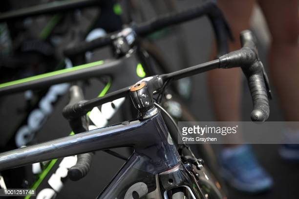 Start / Mark Cavendish of Great Britain and Team Dimension Data / Headset / Cervelo Bike / Detail view / during the 105th Tour de France 2018 Stage...