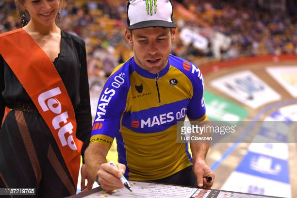Start / Mark Cavendish of The United Kingdon and Team The Wolfpack – Maes 0,0% / Signature / during the 79th 6 Days Gent 2019 - Day 1 / Track /...
