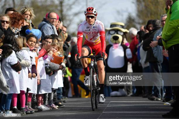 Start / Mathias Le Turnier of France and Team Cofidis Solutions Credits / Fans / Public / during the 77th Paris - Nice 2019, Stage 3 a 200km stage...
